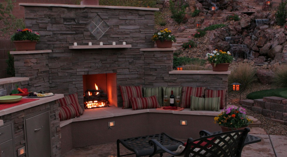 Fire place design las vegas