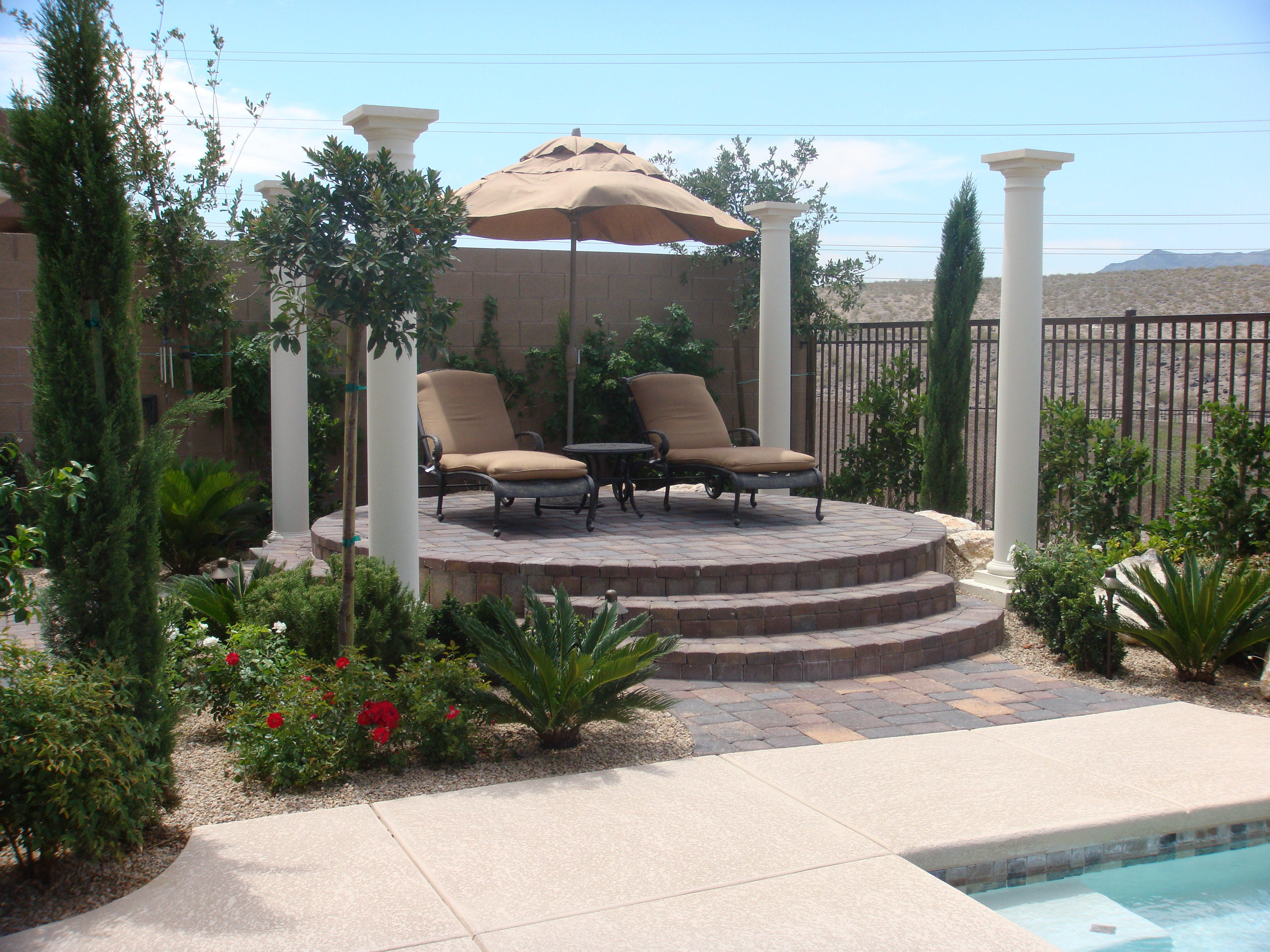 hardscapes las vegas install by green planet landscaping