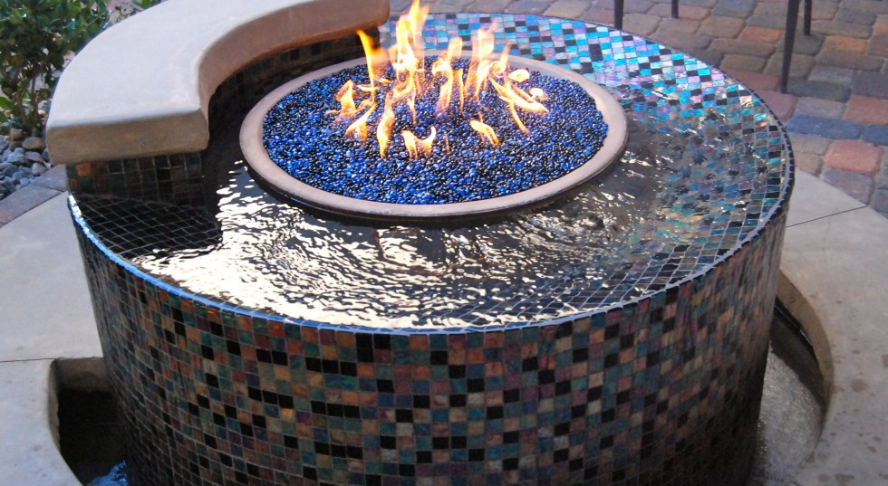 water features with fire las vegas