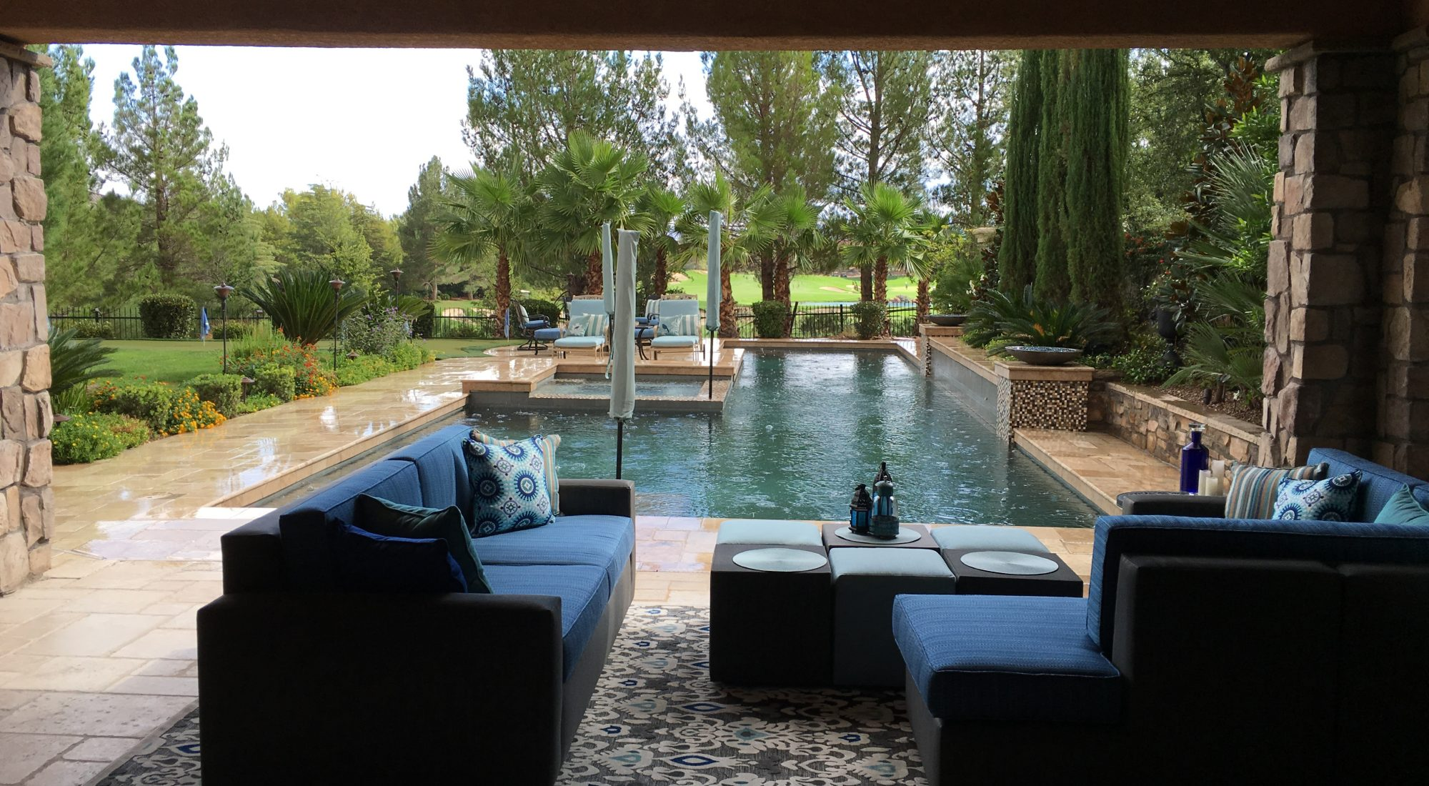 custom outdoor furniture by Damon Lang- Green Planet Landscaping Las Vegas